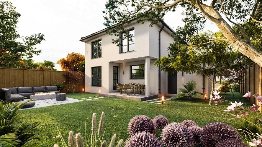 Prețuri mai mari la casele din Westfield. Casa Grand, din grădină.